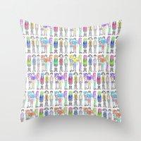 daria Throw Pillows featuring Daria and Friends by Monique Cutajar