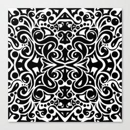 Kaleidoscope Black&White Canvas Print