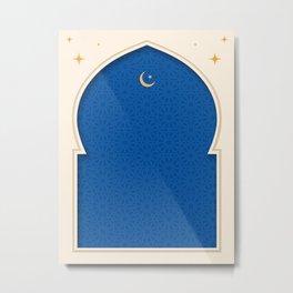 Mihrab - Minimal Blue Metal Print