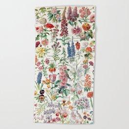 Adolphe Millot - Fleurs pour tous - French vintage poster Beach Towel