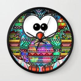Owl aztec tribal best design  Wall Clock