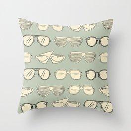 Vintage Glasses Throw Pillow