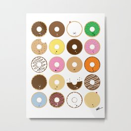 All the Donuts Metal Print