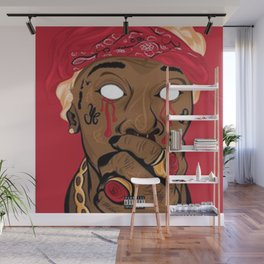 PRINT ILLUSTRATION YOUNG THUG Wall Mural