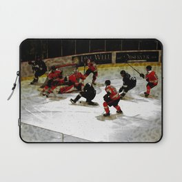 The End Zone - Ice Hockey Game Laptop Sleeve