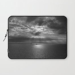 Cloudscape in black and white Laptop Sleeve