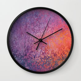 background texture purple Wall Clock