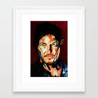daryl Framed Art Prints featuring Daryl by SweetAshArts