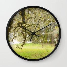 Misty Oaks Wall Clock