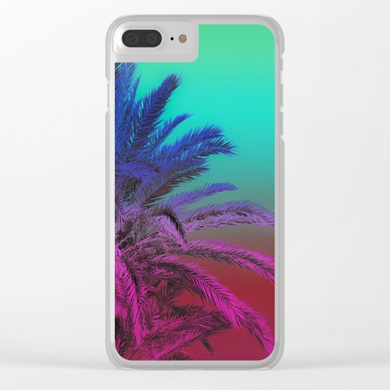 Enjoy The Summer with Palms Clear iPhone Case