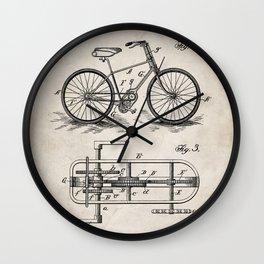 Bike Patent - Bicycle Art - Antique Wall Clock