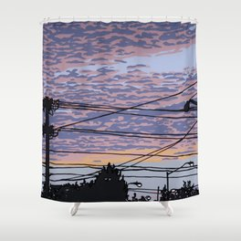 Telephone Poles at Sunset 1 Shower Curtain