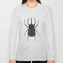 Atlas Beetle Insect Digital Watercolor Long Sleeve T-shirt