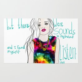 sounds in my head Rug