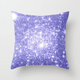 Lavender Periwinkle Sparkle Stars Throw Pillow