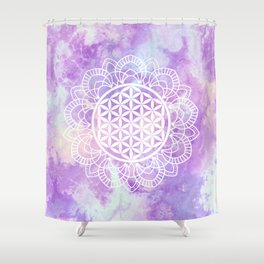 Flower Of Life (Soft Lavenders) Shower Curtain