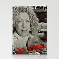 river song Stationery Cards featuring River Song; Hello Sweetie. by Art Corner