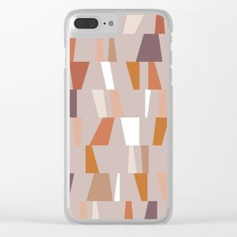 Neutral Geometric 03 Clear iPhone Case