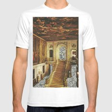 waves White Mens Fitted Tee MEDIUM