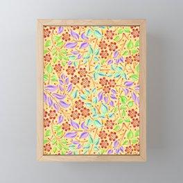 Sunshine Filigree Floral Framed Mini Art Print