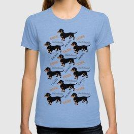 Black Tan Smooth Dachshund T-shirt