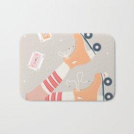 Roller skate girl 003 Bath Mat