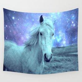 Celestial Dreams Horse Periwinkle Lavender Aqua Wall Tapestry