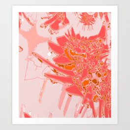 Peach Smooth Abstract Design at GreenBeeMee Art Print