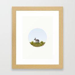 Bennett's wallaby (Macropus rufogriseus) Framed Art Print