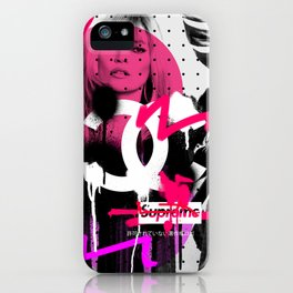 Kate Moss Logo Overdose Supreme Monstera Tropical iPhone Case