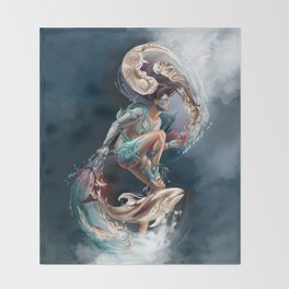 Sedna: Inuit Goddess of the Sea Throw Blanket