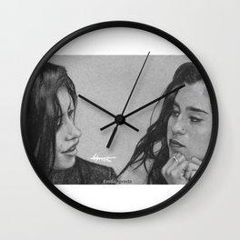 Camren Pencil Sketch  Wall Clock