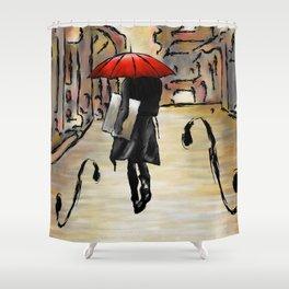 Hafanissia V1 - lady umbrella Shower Curtain