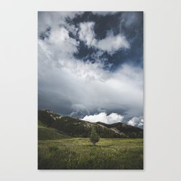 Landsape Waterton Meadow and Rolling Hills | Nature | Skyscape Clouds Canvas Print