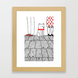 At The Party Framed Art Print