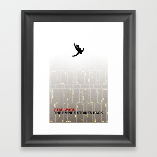 The Empire Strikes Back (Mad Galaxy Series 2 of 3) Framed Art Print