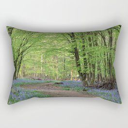 Beech and Bluebell Walk Rectangular Pillow