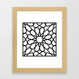Islamic Geometric Line Art Framed Art Print