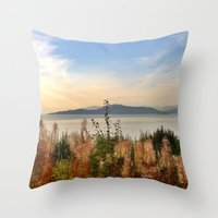 vancouver Throw Pillows featuring Vancouver  by amberino