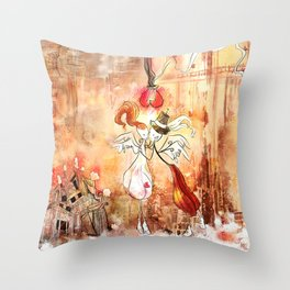 Love gives you Wings Throw Pillow