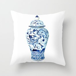 GINGER JAR NO 7  Throw Pillow