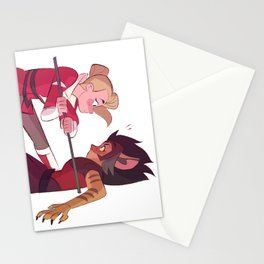 Sparring Practice Stationery Cards