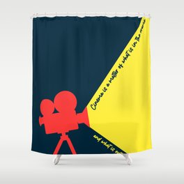 Minimal Movie Poster: Martin Scorsese Shower Curtain