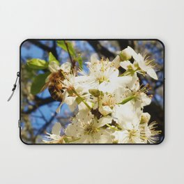 bees on flower Laptop Sleeve