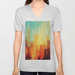 Urban sunset Unisex V-Neck
