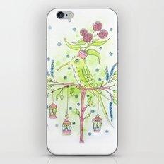 Flowerpot bird iPhone & iPod Skin