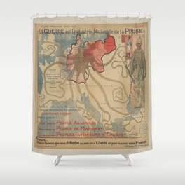 Vintage poster - Prussia Shower Curtain