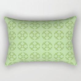 Art Deco Vintage Stylized Flowers Pattern 1 Green Rectangular Pillow