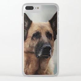 Portrait of a German Shepherd in Venice Clear iPhone Case