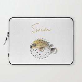 Swim little pufferfish Laptop Sleeve